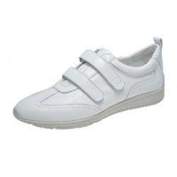 SANAGENS scarpe donna pelle WASH 102 plantare estraibile lavabile 2 strappi BIANCO