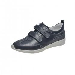SANAGENS scarpe uomo pelle WASH 502 plantare estraibile lavabile 2 strappi BLU NAVY