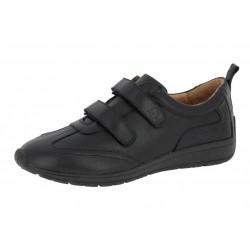SANAGENS scarpe uomo pelle WASH 502 plantare estraibile lavabile 2 strappi NERO NOIR