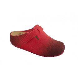 SCHOLL ciabatte lana cotta RENLY rosso sfumato plantare bioprint chiusura velcro