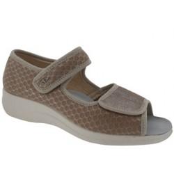 PODOLINE scarpa sandalo riabilitativo donna NARNI tessuto setaflex BEIGE 2 strappi