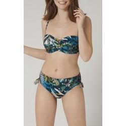 TRIUMPH costume bikini fascia imbottita senza ferretto BOTANICAL LEAF DP coppaC OTTANIO