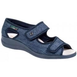 PODOLINE scarpa sandalo riabilitativo donna PANDIA tessuto setaflex BLU 2 strappi