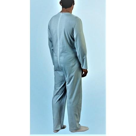 PIGIAMA SANITARIO anziani cotone tutona zip posteriore cerniera dietro tuta ospedale