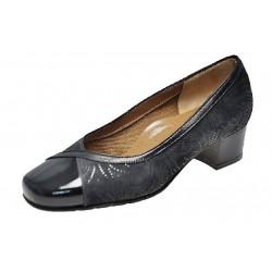 SANAGENS scarpe decollete pelle vernice CLASSIC 1911 GRIGIO SCURO tacco 4cm dal 34 al 42