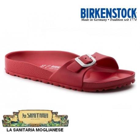 BIRKENSTOCK Ciabatte MADRID 128193 EVA gomma leggerissima 1 fibbia ROSSO RED