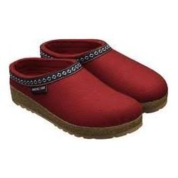 comprare a buon mercato online in vendita prezzo folle HAFLINGER pantofole FRANZL RUBIN feltro di lana cotta fondo gomma ROSSO  tirolese - SANITARIA MOGLIANESE