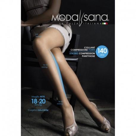 MODASANA SANAGENS calze elastiche 140 DEN COLLANT maglia rete MUSKAT