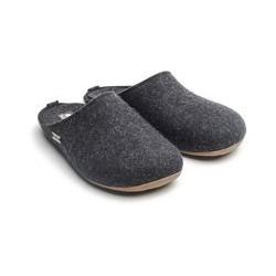 HAFLINGER pantofole unisex FUNDUS GRAPHIT 48102477 feltro lana cotta GRAFITE 43 44 45 46