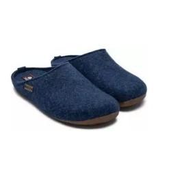 HAFLINGER pantofole unisex FUNDUS JEANS 48102472 feltro lana cotta JEANS 43 44 45 46