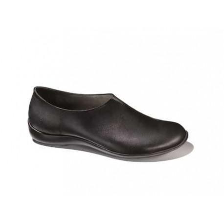 BENVADO scarpa pantofola slip on MIRKA plantare estraibile pelle NERO