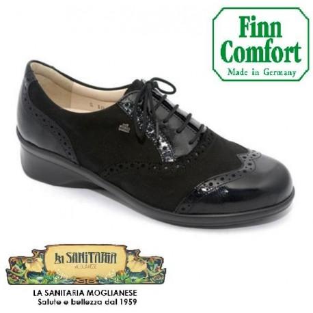 FINNCOMFORT scarpa pelle donna lacci EUREKA NERO 3596 900618 plantare estraibile