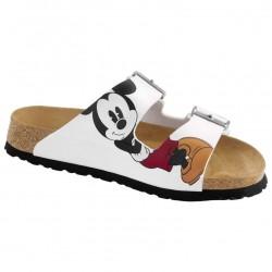 BIRKENSTOCK ciabatta sandalo 2 cinturini ARIZONA 0514143 Birko Flor BIANCO Minnie Mickey