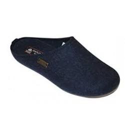 HAFLINGER pantofole unisex FUNDUS KAPITAN 481024 feltro lana cotta BLU