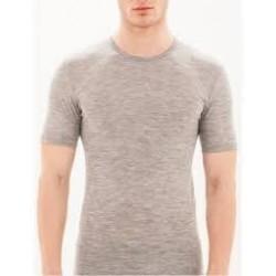 RAGNO Maglietta uomo girocollo a manica corta WONDERWOOL in lana merino GRIGIO