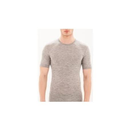 RAGNO Maglietta uomo girocollo manica corta WONDERWOOL 602317 lana merino GRIGIO