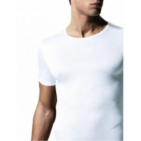 RAGNO Maglietta girocollo manica corta UOMO 601697 cotone filo di scozia BIANCO