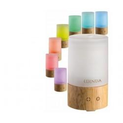 CAMI UMIDIFICATORE per essenze 3 settaggi luce con 7 colori design elegante in vetro e legno garanzia 2 anni