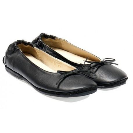 HAFLINGER scarpa donna pelle morbidissima BALLERINA TIA 451002 plantare NERO