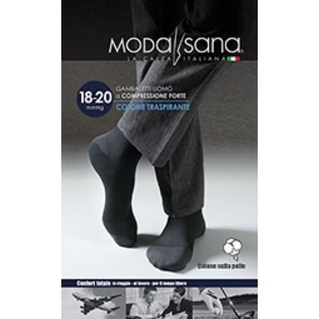 MODASANA calza riposante gambaletto cotone UOMO BLU 18-20 mmHg compressione graduata
