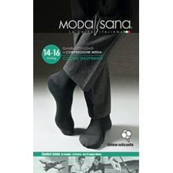 MODASANA calza riposante gambaletto cotone UOMO ANTRACITE 14-16 mmHg compressione graduata