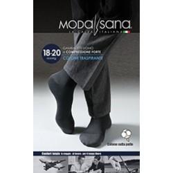 MODASANA calza riposante gambaletto cotone UOMO ANTRACITE 18-20 mmHg compressione graduata