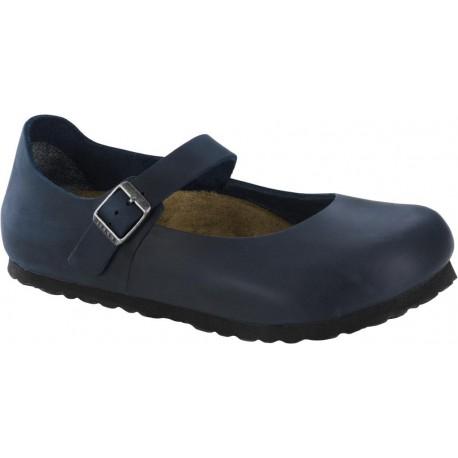 BIRKENSTOCK scarpa donna MANTOVA 1004604 BLU 1 fibbia tomaia pelle Oiled Leather BLUE