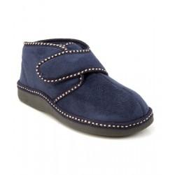 MEDIMA pantofole invernali alte da uomo MC MEN 60278 con velcro in calda microfibra BLU