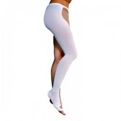 SAFTE ORIONE monocollant con cintura ANTITROMBO bianca 18 mmHg ambidestra con foro