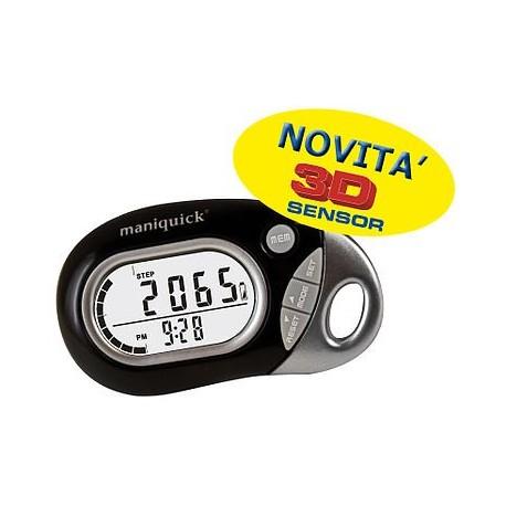 MANIQUICK PEDOMETRO multifunzione MQ771 contapassi conta calorie misuratore distanza tascabile