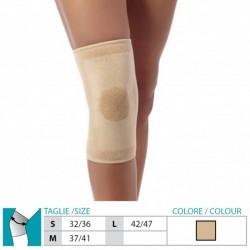 ORIONE GINOCCHIERA 84 in LANA ANGORA beige morbida aderente artrosi dolori muscolari terapia col calore