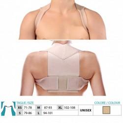 SAFTE ORIONE RADDRIZZA SPALLE 9494 tiranti regolabili velcro postura beige discreto