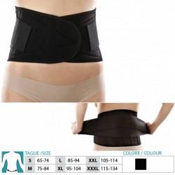 ORIONE busto corsetto LOMBO SACRALE 3081 stecche h.24cm tiranti con strappo NERO