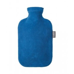 FASHY borsa acqua calda F6530 rivestita pile BLU boule tappo antiperdita 2 litri