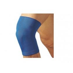 Dr.GIBAUD ginocchiera sportiva blu 0516 cotone elasticizzato taglie 1 2 3 4 5