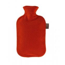 FASHY borsa acqua calda F6530 rivestita pile ROSSO boule tappo antiperdita 2 litri