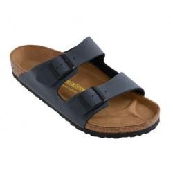 BIRKENSTOCK ciabatta sandalo 2 cinturini ARIZONA 651163 Birko Flor Nubuck Basalt