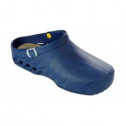SCHOLL zoccolo professionale lavoro EVO BLU scarpa gomma cinturino plantare estraibile