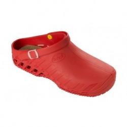 SCHOLL zoccolo professionale lavoro EVO ROSSO scarpa gomma cinturino plantare estraibile