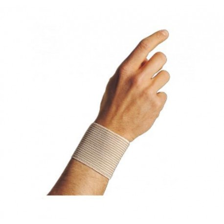 Dr.GIBAUD polsino righe beige 0704 cotone elasticizzato h.6cm chiusura strappo