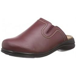 Dr SCHOLL ciabatte pantofole NEW TOFFEE pelle WINE plantare memory leggera morbida