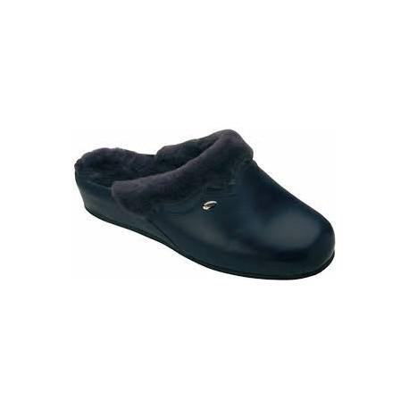 Dr SCHOLL pantofola calda montone WARMLINE BLU plantare memory leggera morbida