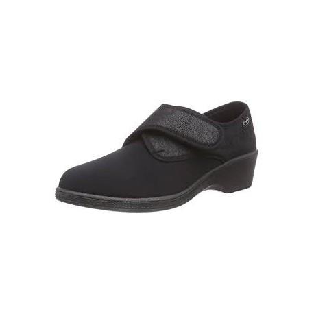 Dr SCHOLL pantofola scarpa AGNES MC NERO elasticizzata riabilitazione 1 velcro