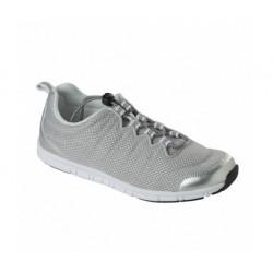Dr SCHOLL scarpa traforato sportiva sneaker WIND STEP grigio ARGENTO plantare Memory leggera