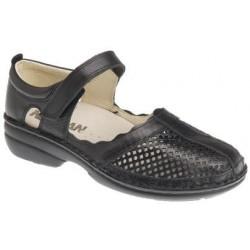 NEWSAN Scarpa sandalo traforato 366 predisposta plantare estraibil Vitello BLU