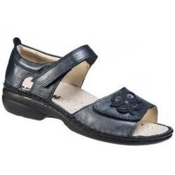 NEWSAN scarpa punta aperta sandalo 327 predisposta plantare estraibile BLU PERLA