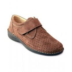 MEDIMA scarpe estive uomo TEOCRITO 50431 plantare estraibile velcro nabuk T.MORO