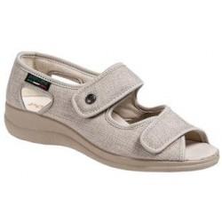 PODOLINE scarpa sandalo riabilitativo donna PANDIA tessuto setaflex BEIGE 2 strappi