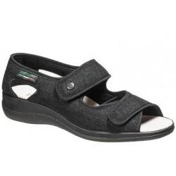 PODOLINE sandalo riabilitativo donna PANDIA tessuto e setaflex  2 velcri NERO