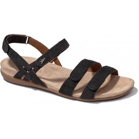 BENVADO sandalo camoscio ALICIA LAVAGNA con strappo plantare morbido pelle capra